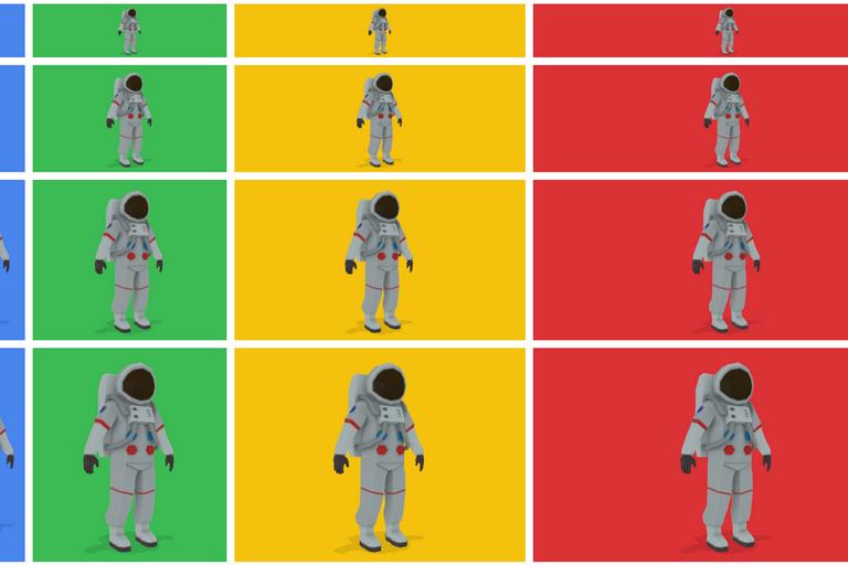Google Model-Viewer Astronaut Montage