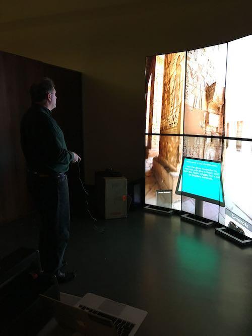 Immersive VR Cave Using Multiple Flat Panel Monitors
